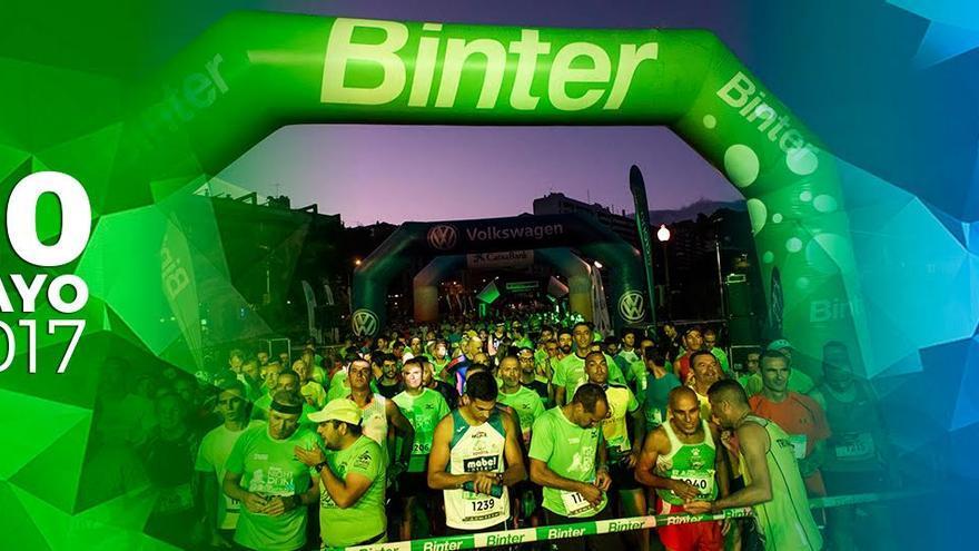 Imagen promocional de la edición de 2017 de la carrera nocturna Binter NightRun