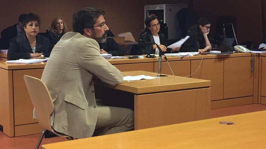 El expresidente del Cabildo de Lanzarote, Pedro San Ginés (CC), en su declaración como testigo en el caso Stratvs.