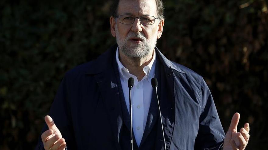 Rajoy llega a la sede del PP para seguir los resultados de las elecciones