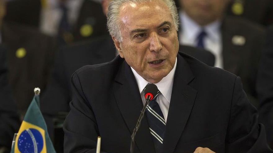 Temer alerta de que sin ajuste Brasil se paralizará en 2024