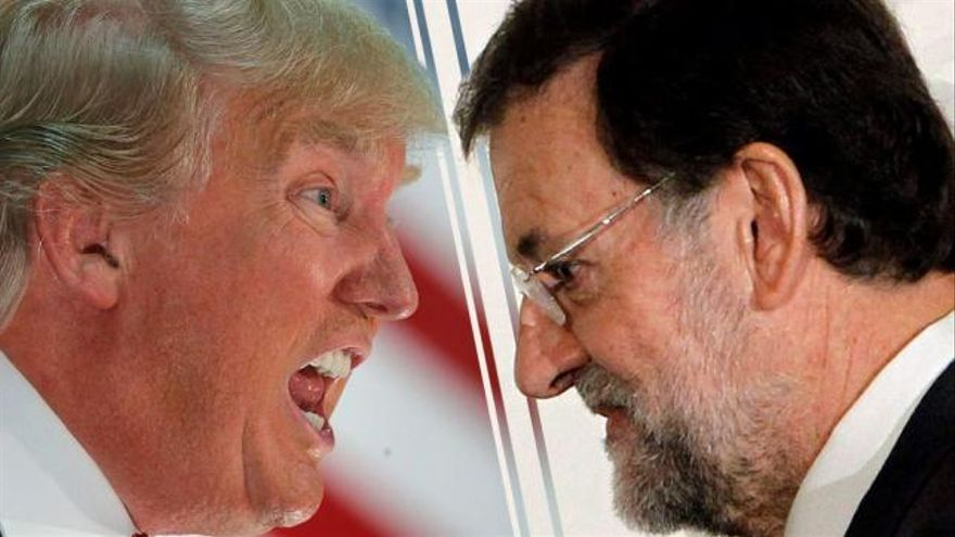 Donal Trump, presidente electo de Estados Unidos y Mariano Rajoy, presidente de España.