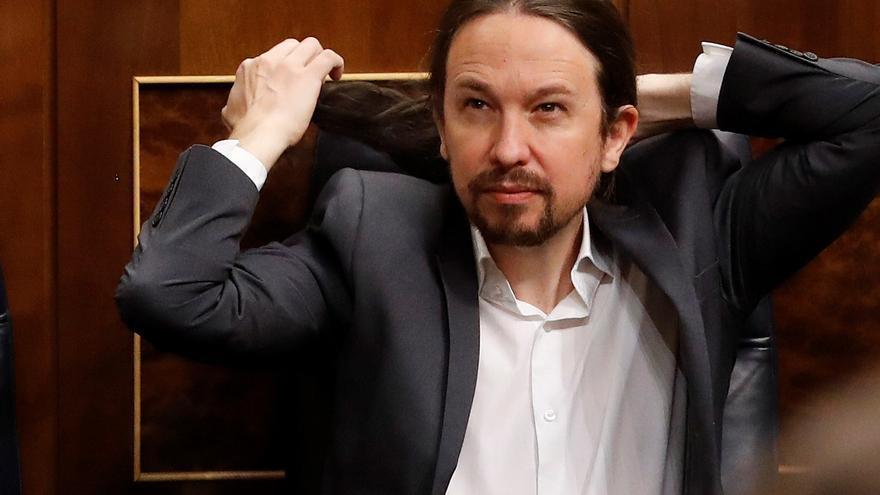 Pablo Iglesias en la sesión de control en el Congreso el 17 de junio.
