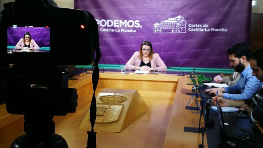 María Díaz en rueda de prensa