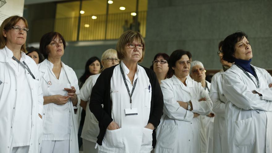 Protesta de los trabajadores del Hospital del Mar en Barcelona / Edu Bayer