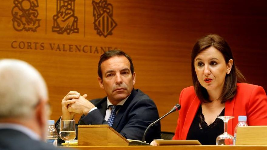 María José Catalá en la comisión de investigación de Ciegsa