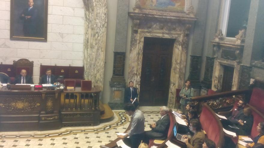 El portavoz municipal, Jordi Peris, interviene para defender la moción presentada