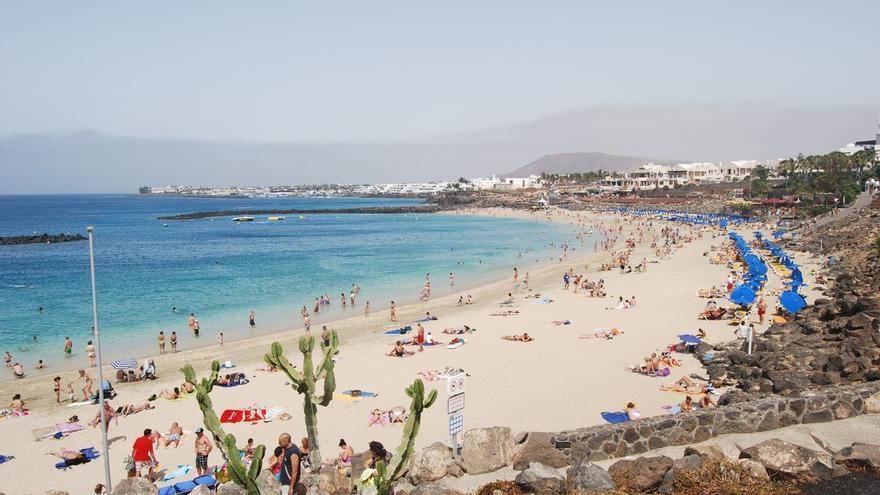 Playa Blanca, en el extremo sur de la isla de Lanzarote. TURISMO DE LANZAROTE