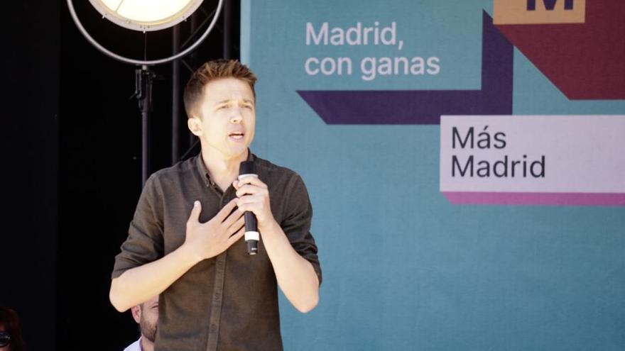 Íñigo Errejón durante el acto de Más Madrid en Leganés