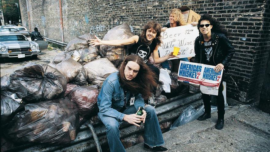 Metallica en la época en que eran conocidos como Alcoholica