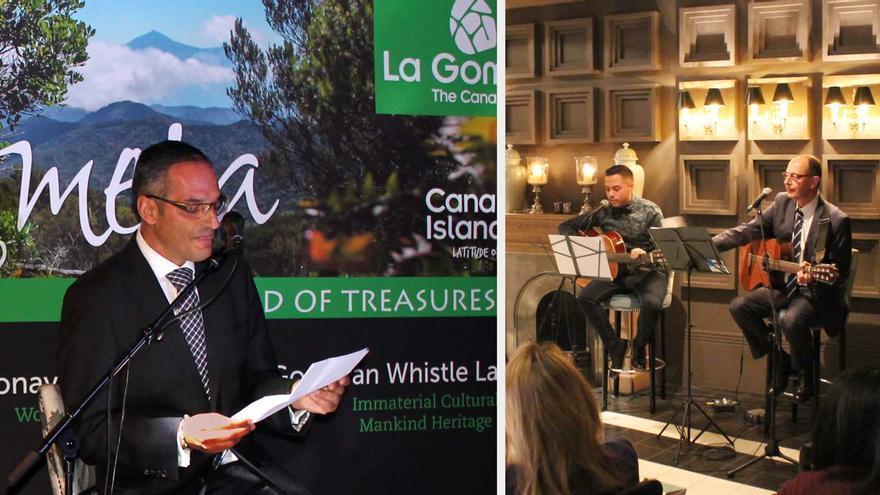 Acto de Turismo de La Gomera celebrado en Londres