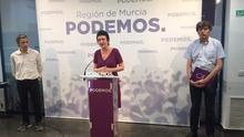 """María Marín: """"Podemos no va a entrar a negociar medidas cosméticas para el Mar Menor"""""""