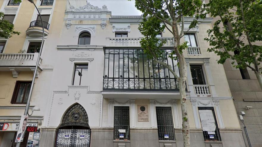 El Palacete en la calle de Alfonso XII