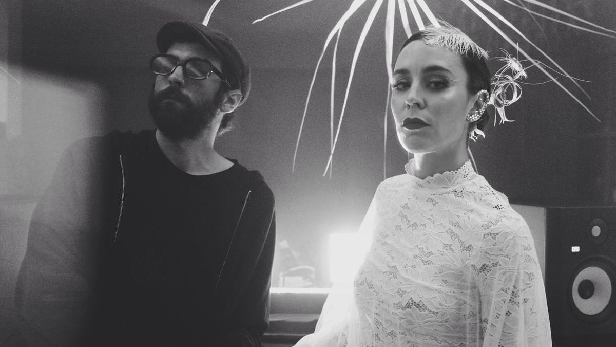 El productor musical junto a Nita