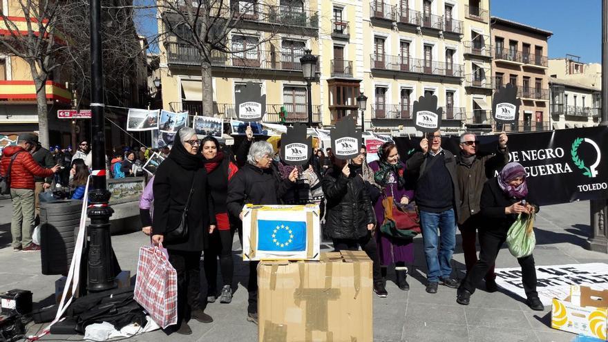 Concentración en Toledo FOTO: Alicia Avilés