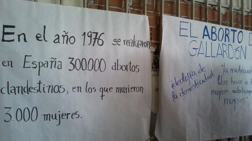 Desde diferentes plataformas, como Feminismos15M, se trabaja en un argumentario contra la reforma de Gallardón. (Foto: Elena Cabrera, CC)