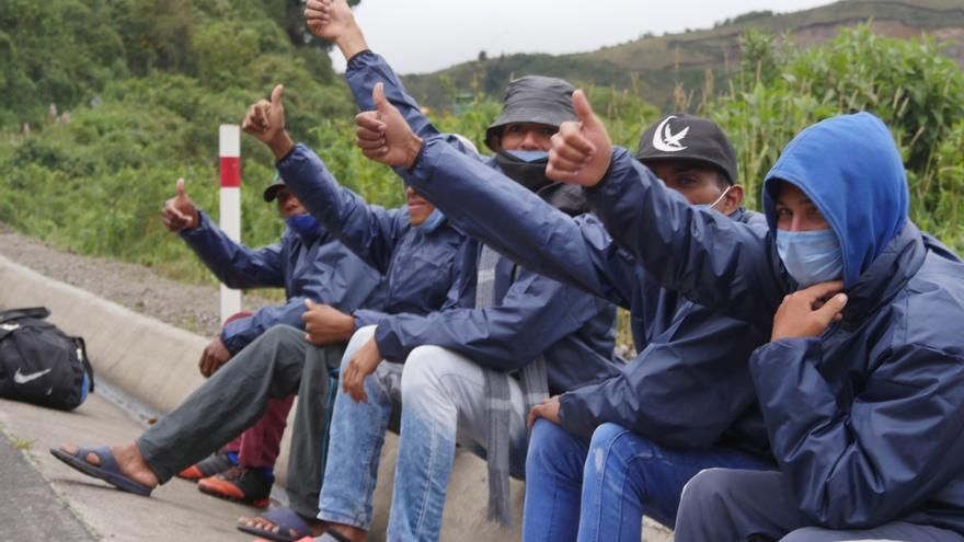 El 96 % de los migrantes venezolanos ve Ecuador como destino