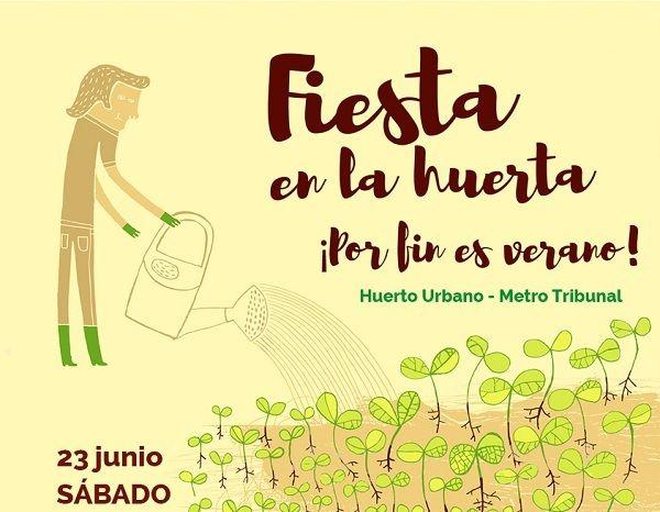 Fiesta de inauguración del huerto urbano de los Jardines del Arquitecto Ribera