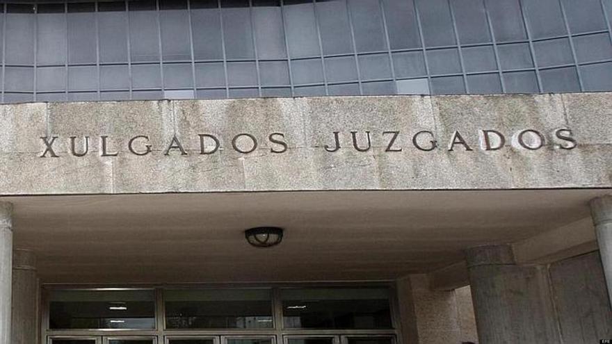 Fachada de los juzgados de Santiago de Compostela