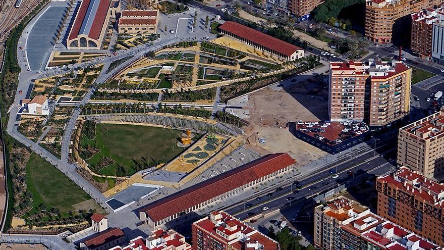 Vista panorámica del Parque Central de València