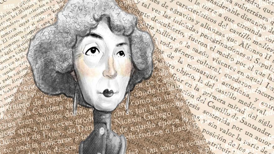 Ilustración de la escritora Concha Espina. | SARA DOMÍNGUEZ