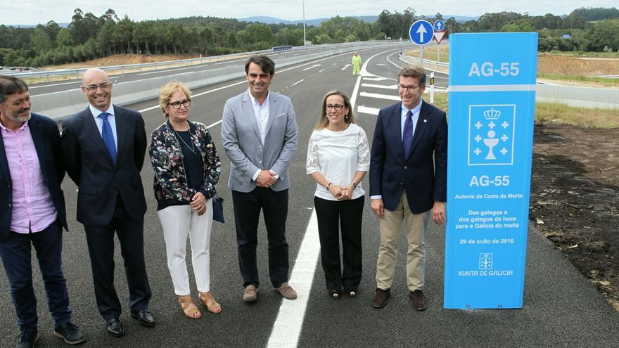 Feijóo en la inauguración de la Autovía de la Costa da Morte en julio de 2016