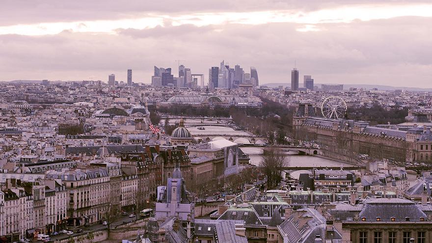 Vistas de la ciudad de París.