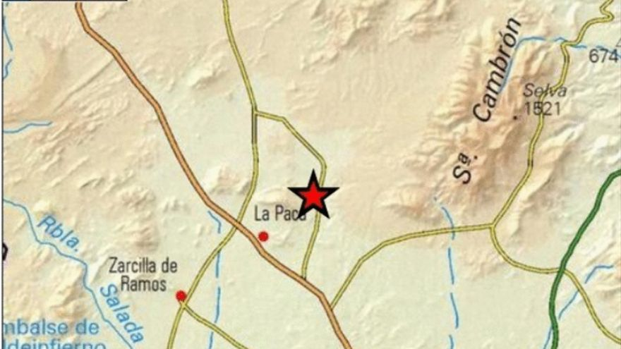 Bullas registra un terremoto de 2,3 grados de intensidad