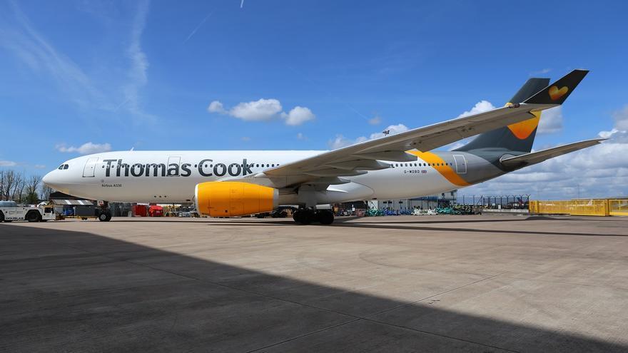 Avión de la compañía de vuelos chárteres Thomas Cook