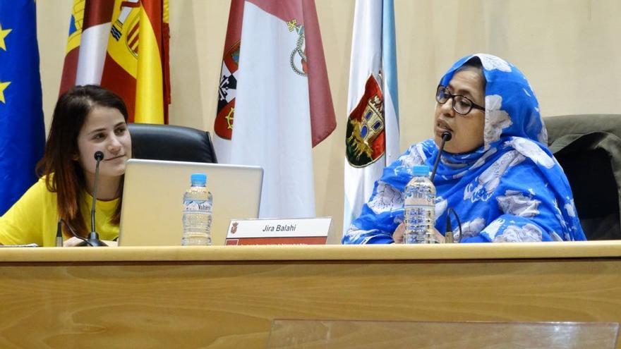 Jira Bulahi, delegada saharaui en España, en la UCLM