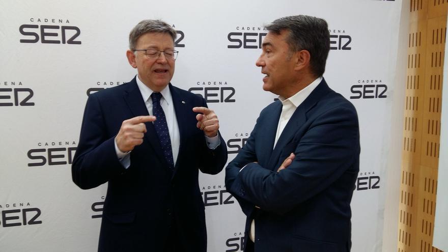 El president Ximo Puig junto a Bernardo Guzmán