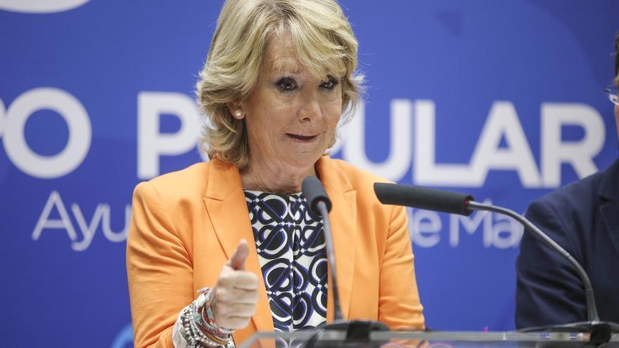 """Aguirre niega que su dimisión sea un mensaje a Rajoy: """"Dios me libre de dar consejos a nadie"""""""