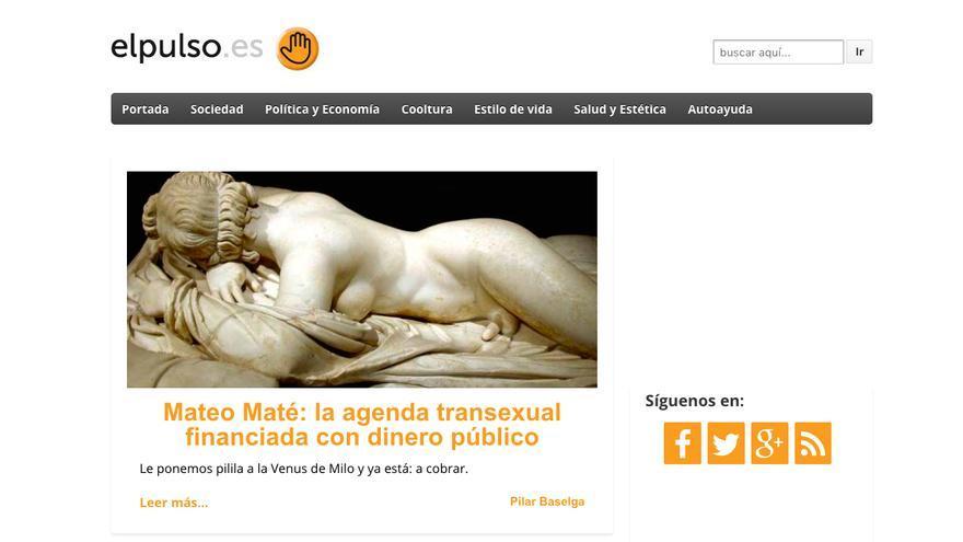 Portada de la web El Pulso, del pasado lunes 5 de junio.