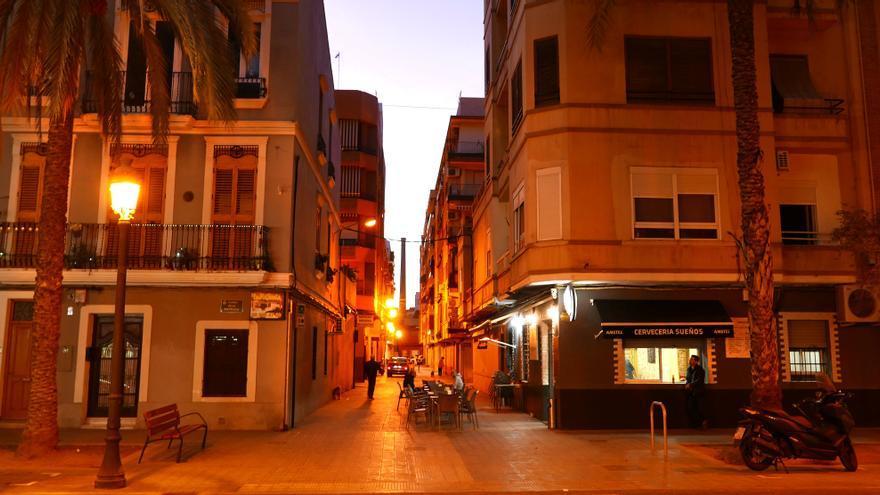 Una calle de El Cabanyal, en València.