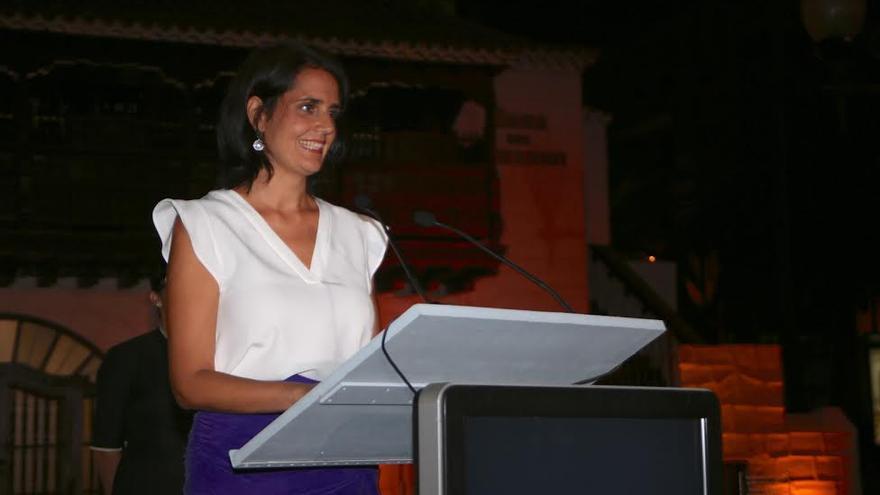 La consejera de Turismo del Gobierno de Canarias, María Teresa Lorenzo. (ALEJANDRO RAMOS)