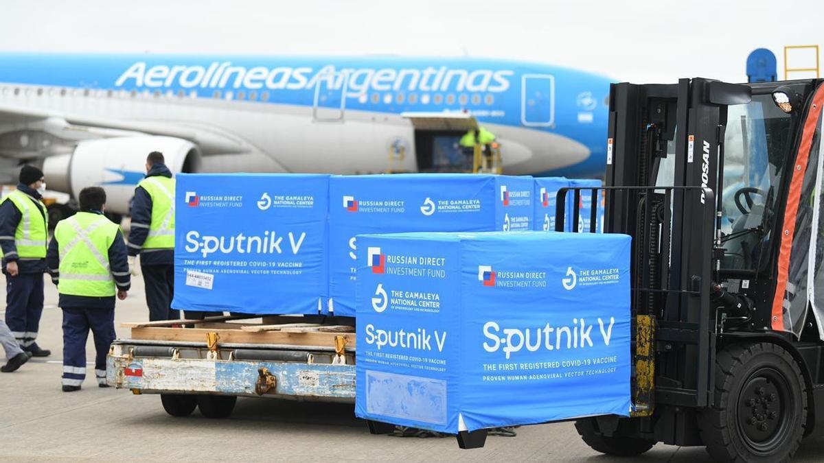 Llegaron 400 mil dosis de Sputnik V, componente 2, para completar esquemas de vacunación.