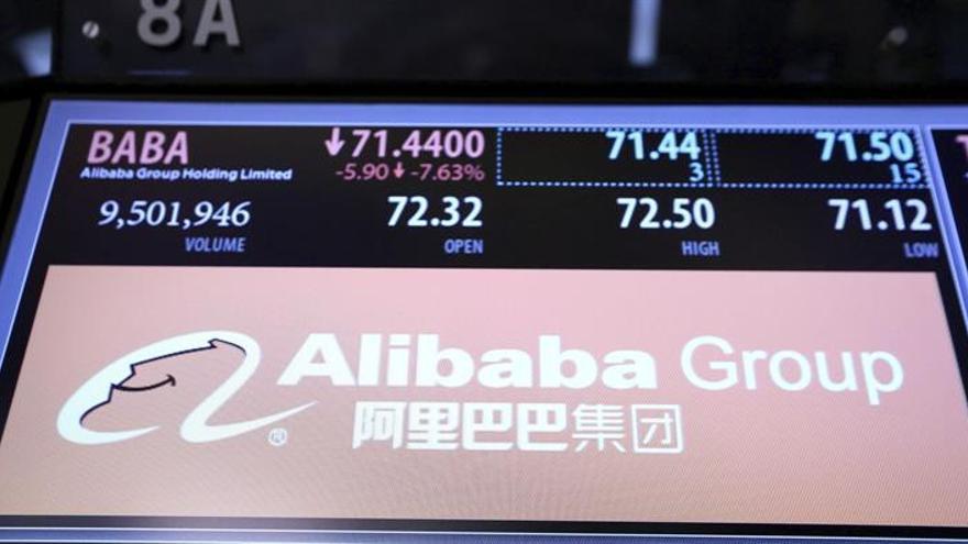 Alibaba gana 2.052,6 millones de euros en el primer semestre, el 72 por ciento menos