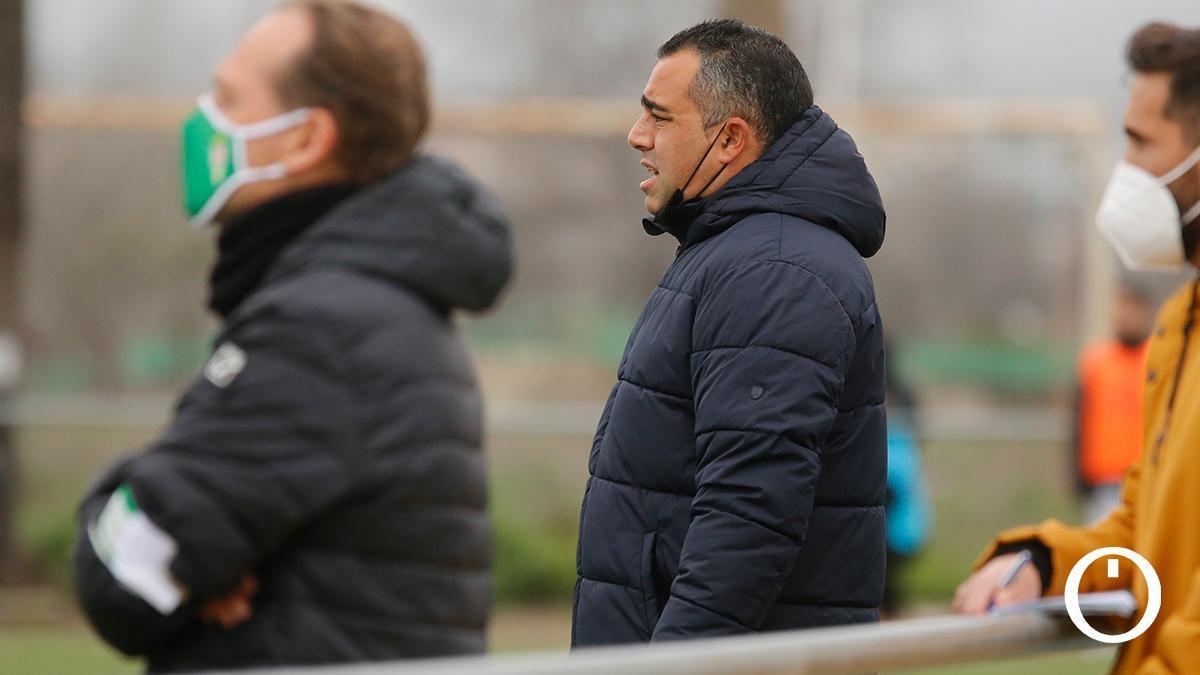 Germán Crespo, en un partido del Córdoba B.