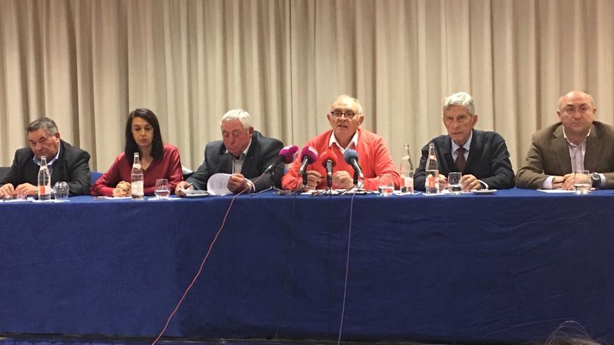 José María Fresneda y los responsables provinciales de ASAJA