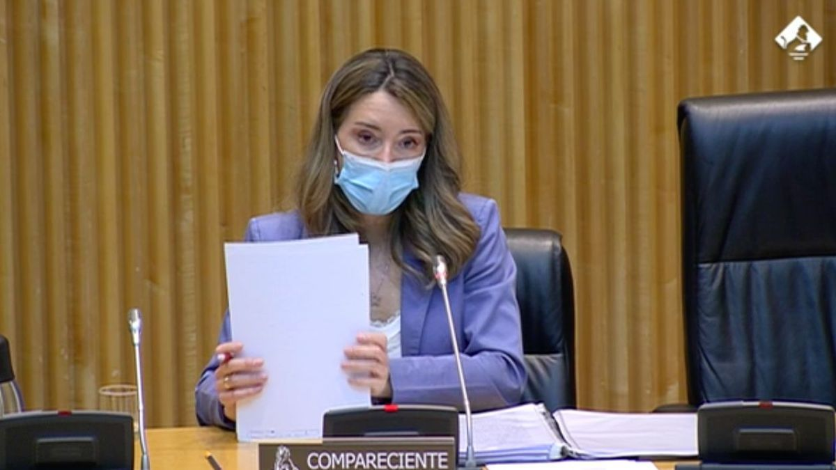 La secretaria de Estado de Comercio, Xiana Méndez, durante la comparecencia de este jueves.