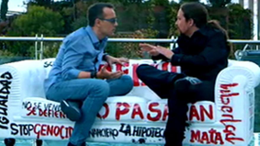 Risto se dispara a récord total (14.5%) con Pablo Iglesias y vence a Ana Pastor con Artur Mas