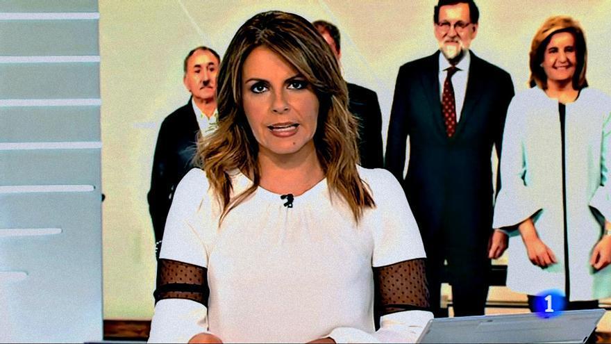 Pilar García Muñiz en el Telediario 1 de TVE