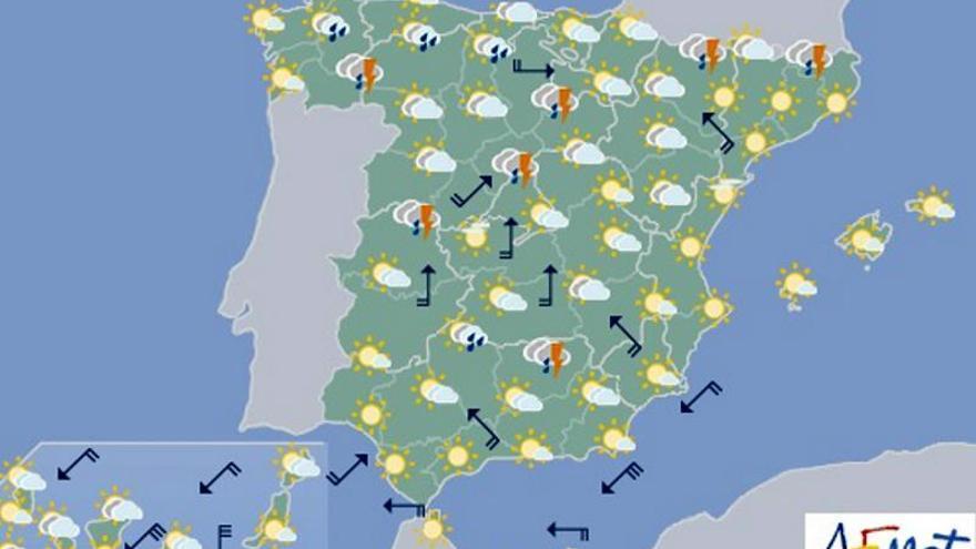 Mucho calor mañana de nuevo y posibles tormentas en el norte y la meseta