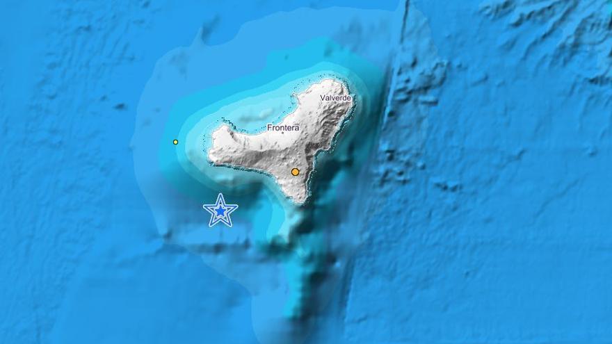 Registrado un terremoto de magnitud 3,1 en aguas de El Hierro