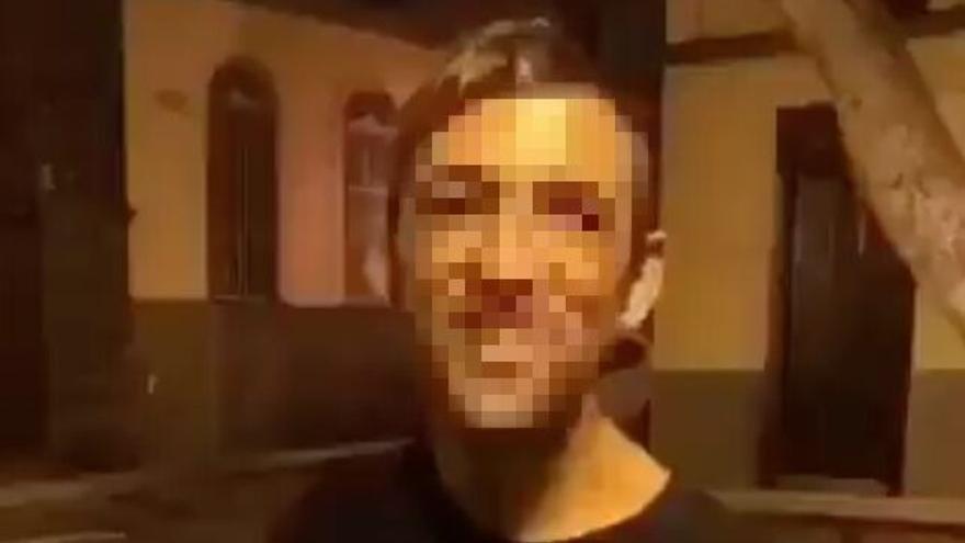 Imagen pixelada del vídeo con la agresión que circula por redes sociales.