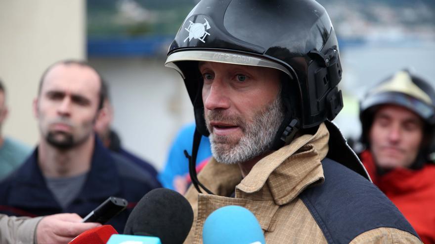 Miguel Ucles, bombero vigués y presidente de la Plataforma Bombeiros Públicos de Galicia