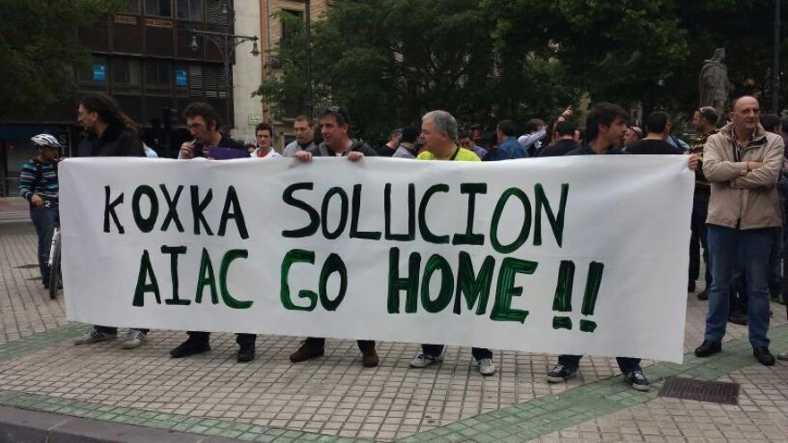 Empleados de Koxka, durante una movilización / Foto: cedida.