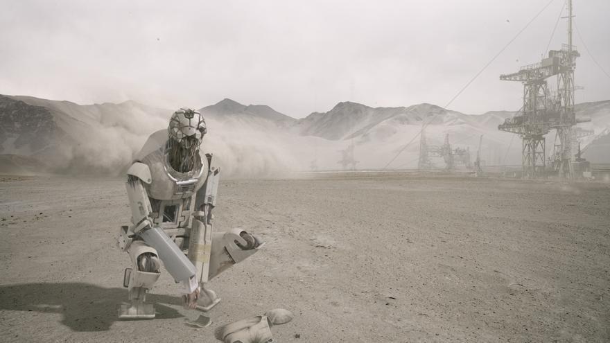 Los robots domésticos Pilgrims son los protagonistas de 'Autómata' junto con Antonio Banderas