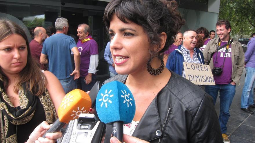"""Teresa Rodríguez (Podemos) cree que """"naturalizar"""" la maternidad en todos los espacios debería ser """"habitual"""""""