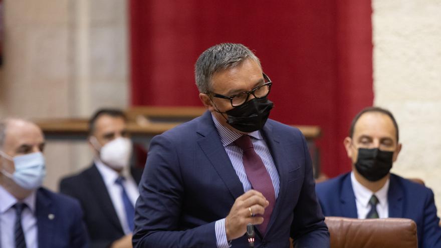 El portavoz del grupo parlamentario Vox, Manuel Gavira, en una foto de archivo.