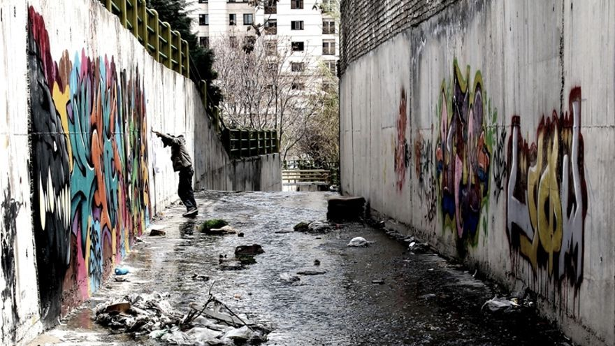 Escena de Writing on the city, Teherán